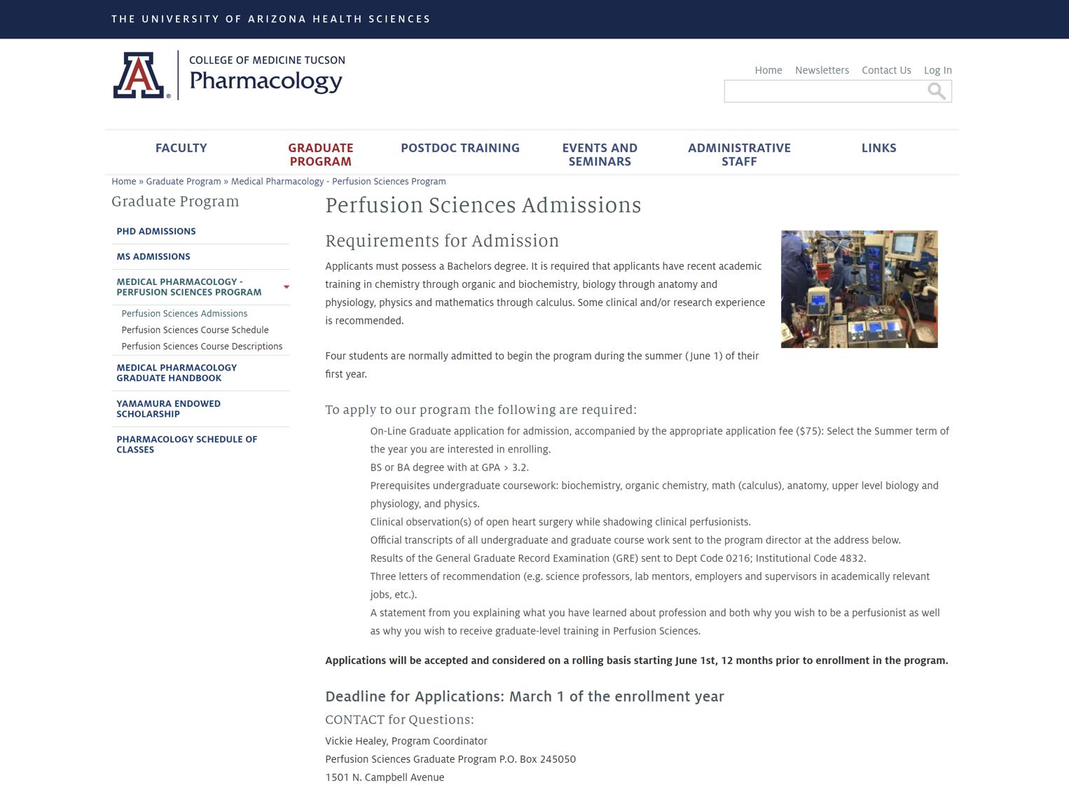 University of Arizona Perfusion