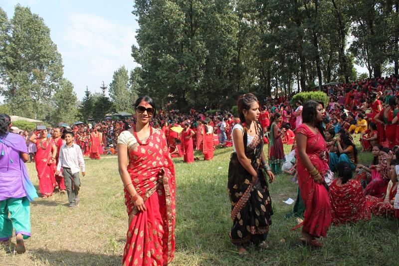 during festival call Teej