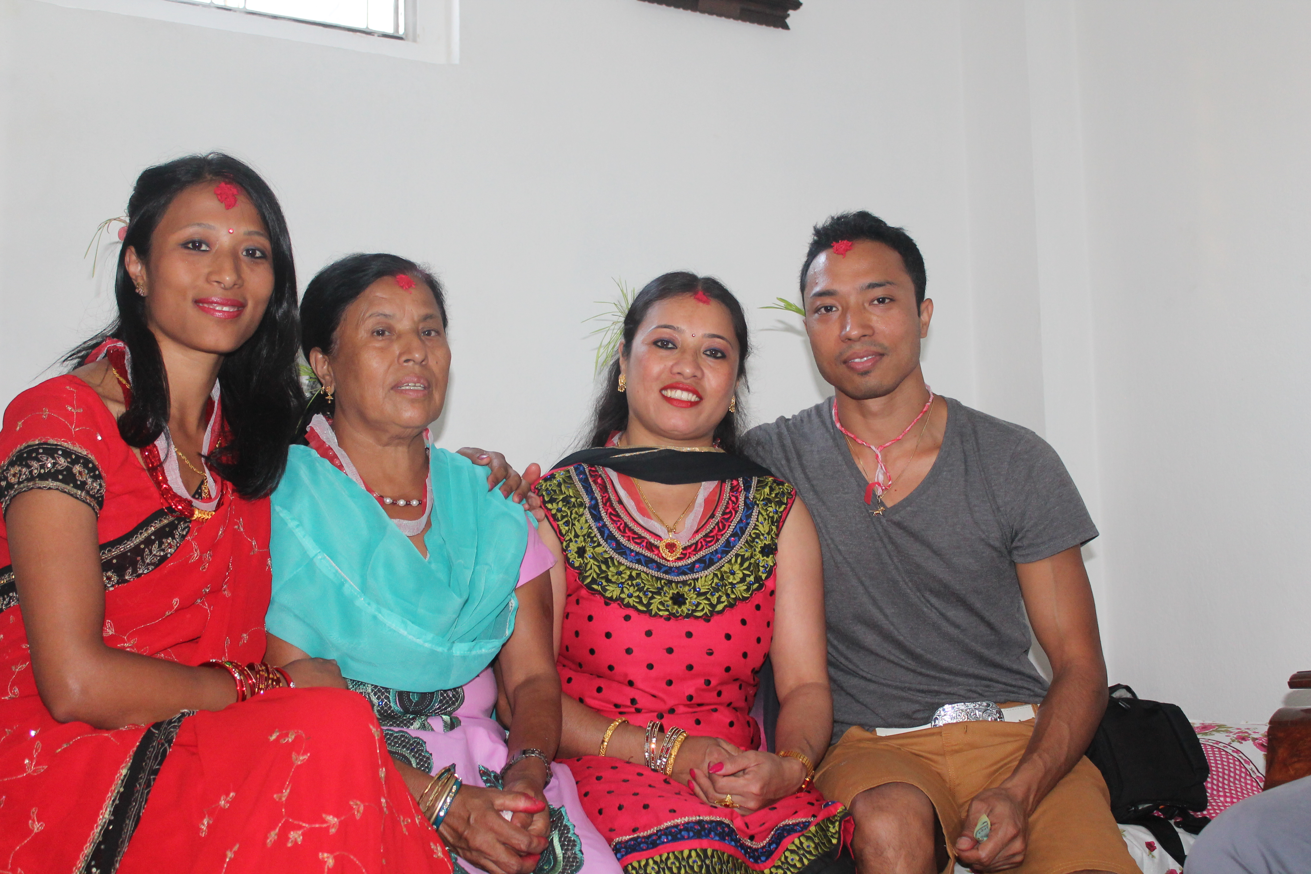 wid my family