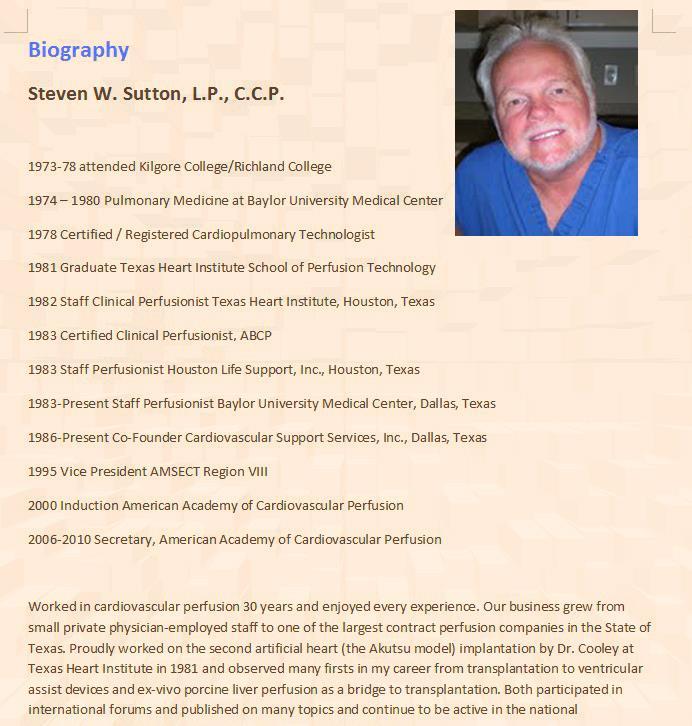 Steve Sutton, LP, CCP.  Click to read Bio.